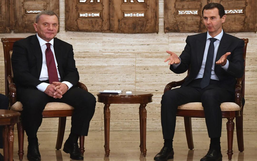 بوريسوف يلتقي الأسد في دمشق لبحث التعاون الاقتصادي ومسألة طرطوس