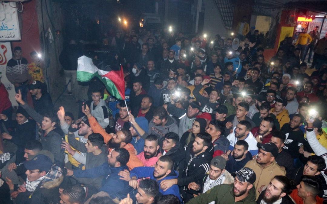 يوم غضب فلسطيني في مخيمات لبنان