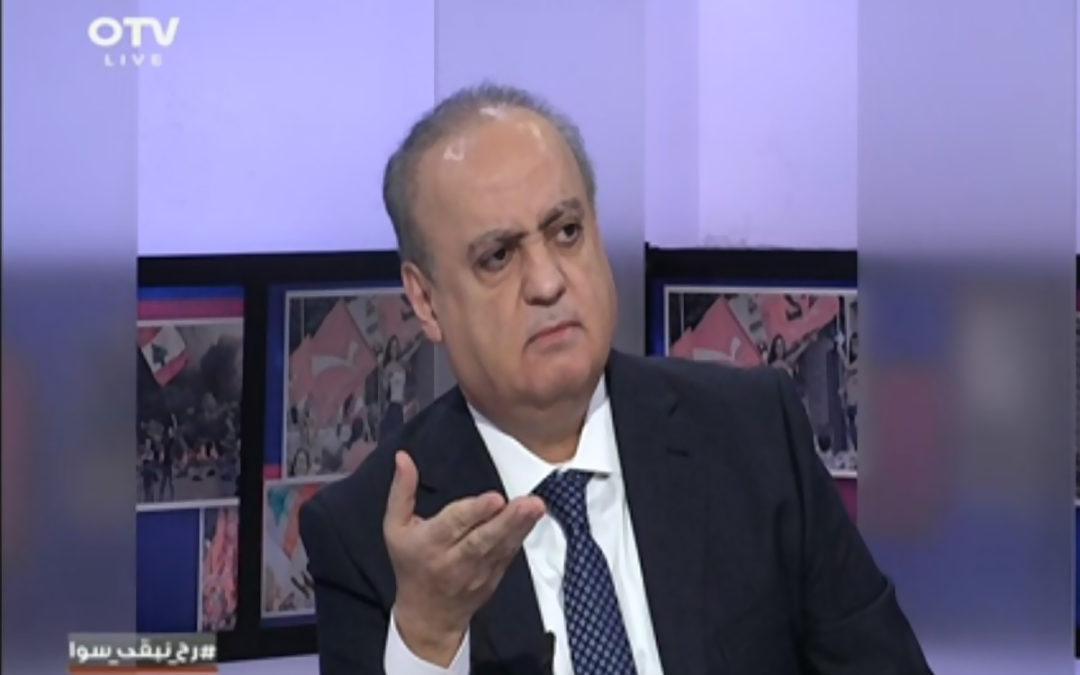 """وهاب لقناة الـ """"أو.تي.في"""": أمران لن يتحققا بعد اليوم في لبنان عودة الدولار للـ 1500ل.ل. والأوضاع لما قبل 17 تشرين"""