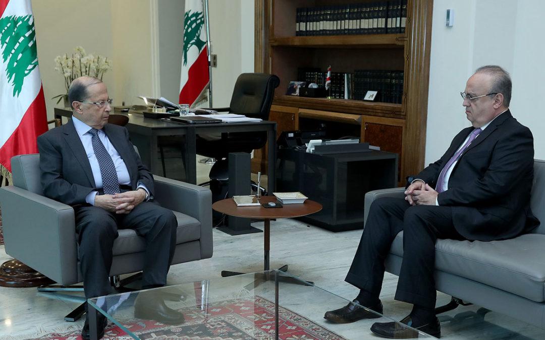 وهاب زار الرئيس عون وعرض معه الأوضاع العامة في البلاد
