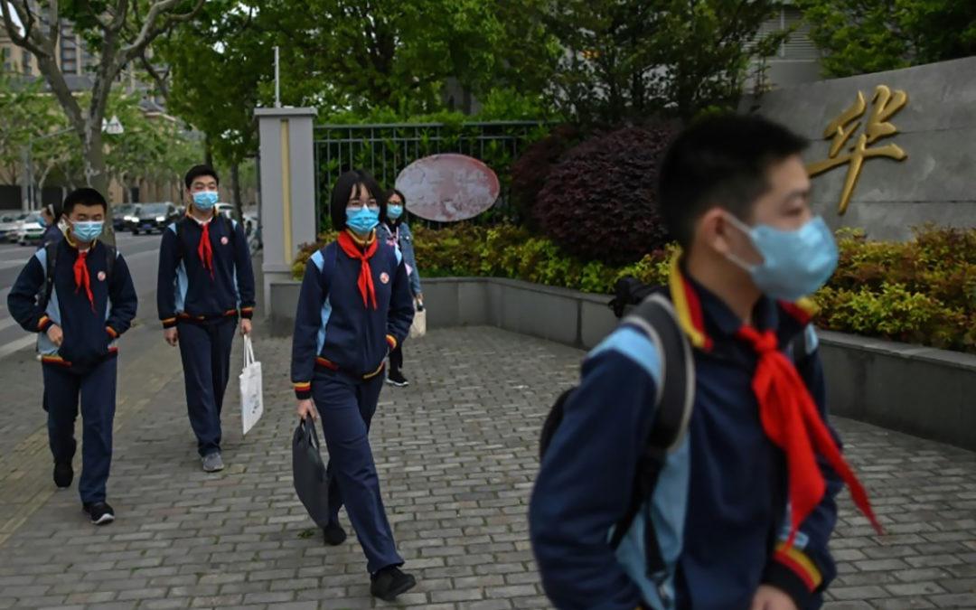 فتح المدارس الثانوية في الصين وسط التزام شديد باجراءات الوقاية