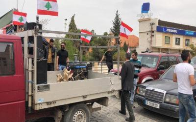 احتجاجات في مناطق لبنانية كافة تزامنا مع جلسة مجلس النواب المنعقدة في الأونيسكو