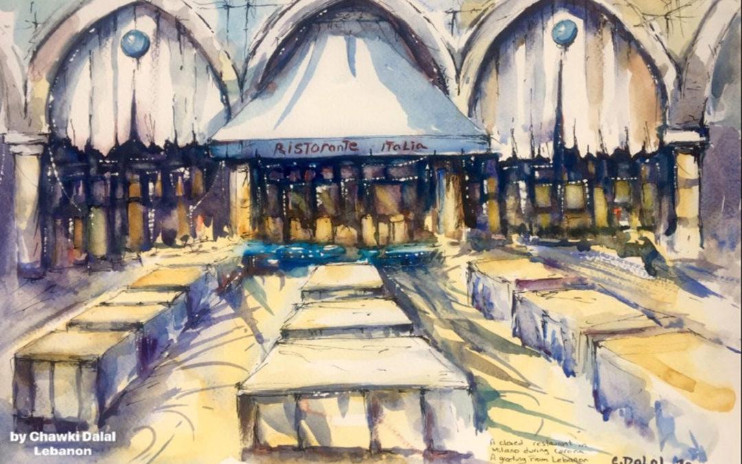 دلال أطلق مشروعه الفني في زمن الكورونا بلوحة من لومبارديا