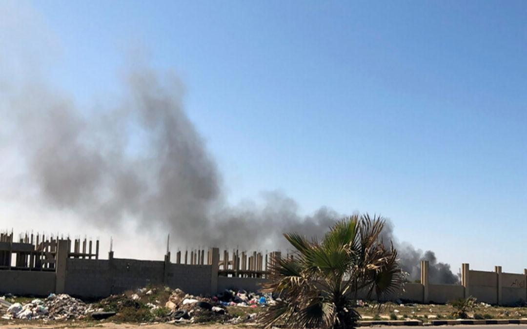 أنباء عن قصف سفينة حربية تركية مواقع إلى الغرب من العاصمة الليبية طرابلس