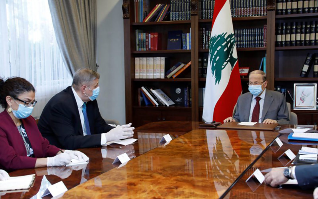عون عرض مع يان كوبيتش انتهاكات اسرائيل للقرار 1701