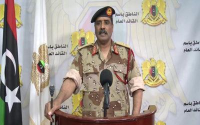الجيش الليبي بقيادة حفتر يضع شرطا جديدا لوقف إطلاق النار في ليبيا!