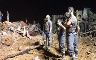 الدفاع المدني: عمليات البحث عن المفقودين اثر انفجار مرفأ بيروت لا زالت مستمرة منذ لحظة وقوع النكبة