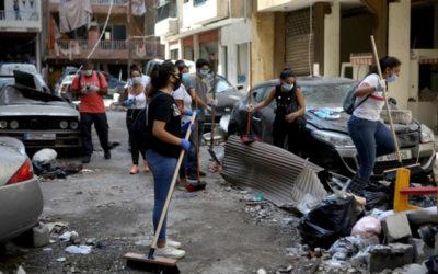 شباب لبنان يلملمون جراح بيروت