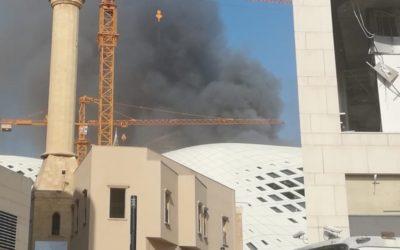 حريق في أحد المباني في أسواق بيروت