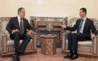 لافروف في دمشق للقاء الرئيس السوري بشار الأسد