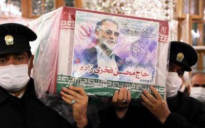 اجراء مراسم تشييع العالم الايراني الشهيد في طهران