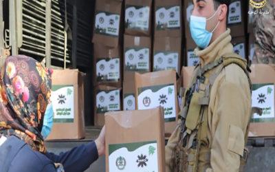 الجيش: توزيع حوالي 2000 حصة غذائية على عائلات محتاجة