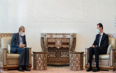 الأسد بحث مع خاجي مجالات التعاون الثنائي بين سوريا وايران