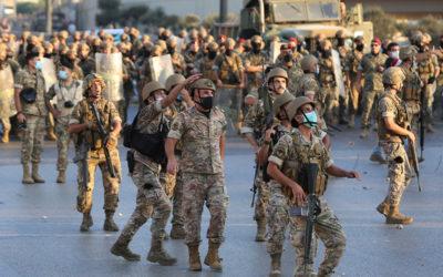 انتشار امني كثيف للجيش داخل حرم قصر العدل