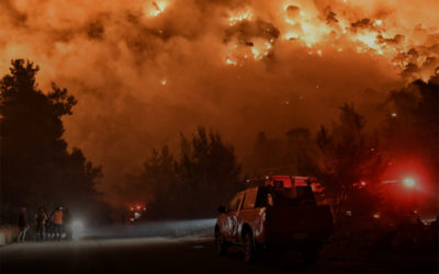 إخلاء 6 قرى جنوب اليونان بسبب حرائق الغابات