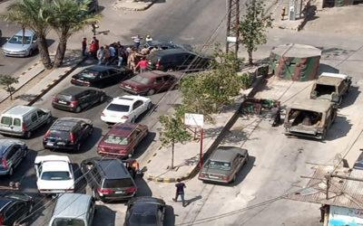 قطع طريق البداوي الدولي بالإتجاهين والطريق في كورنيش المزرعة
