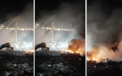 إخماد حريق ناجم عن انفجار حاوية في دبي خلال 40 دقيقة فقط