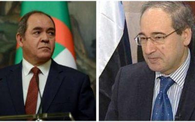 بوقادوم والمقداد يؤكدان تعزيز العلاقات بين الجزائر وسوريا