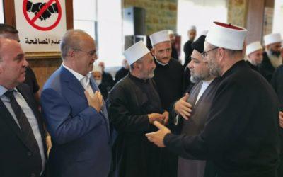 وهاب شارك في مأتم الشيخ دانيل عبد الخالق في مجدلبعنا