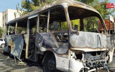 انفجار حافلة عسكرية في دمشق يودي بحياة السائق وإصابة 3 آخرين