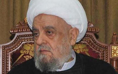 التوحيد العربي معزياً بالعلامة الشيخ عبد الأمير قبلان: قامة شامخة تميزت بالاعتدال والحكمة نفتقده في هذه الظروف الصعبة