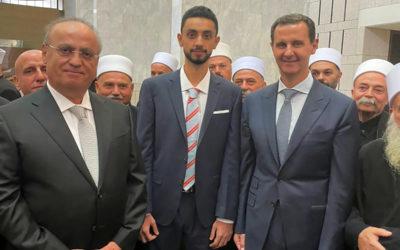 الرئيس الأسد مستقبلاً وفداً من القيادات الدرزية اللبنانية