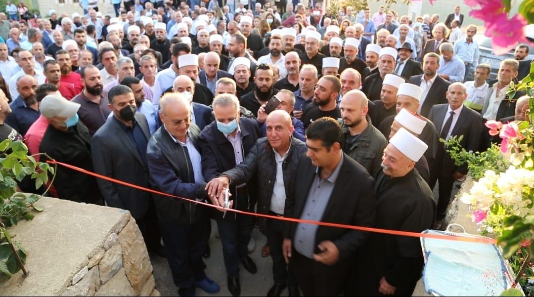 وهاب خلال افتتاح حديقة الشهيد محمد أبو ذياب