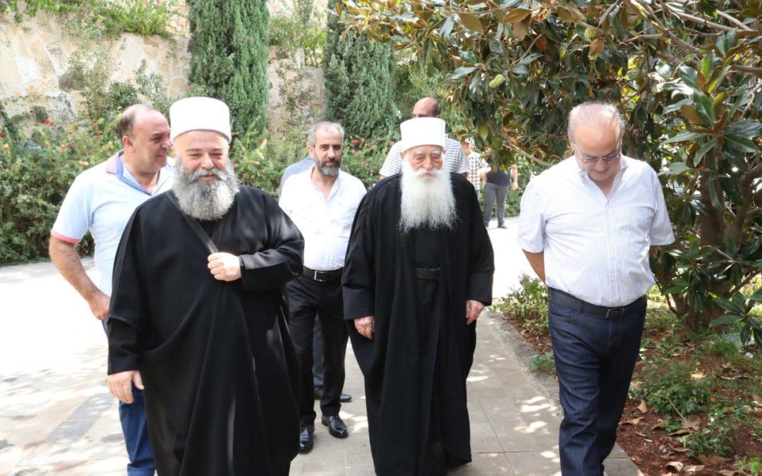 وهّاب بعد لقائه شيخي عقل طائفة الموحدين الدروز في سوريا جربوع والحناوي