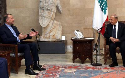 عون استقبل عبد اللهيان: ايران دائماً إلى جانب لبنان